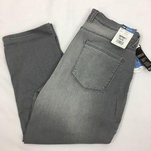 NWT Lee Easy Fit Crop Capri Denim Jeans SZ 10P